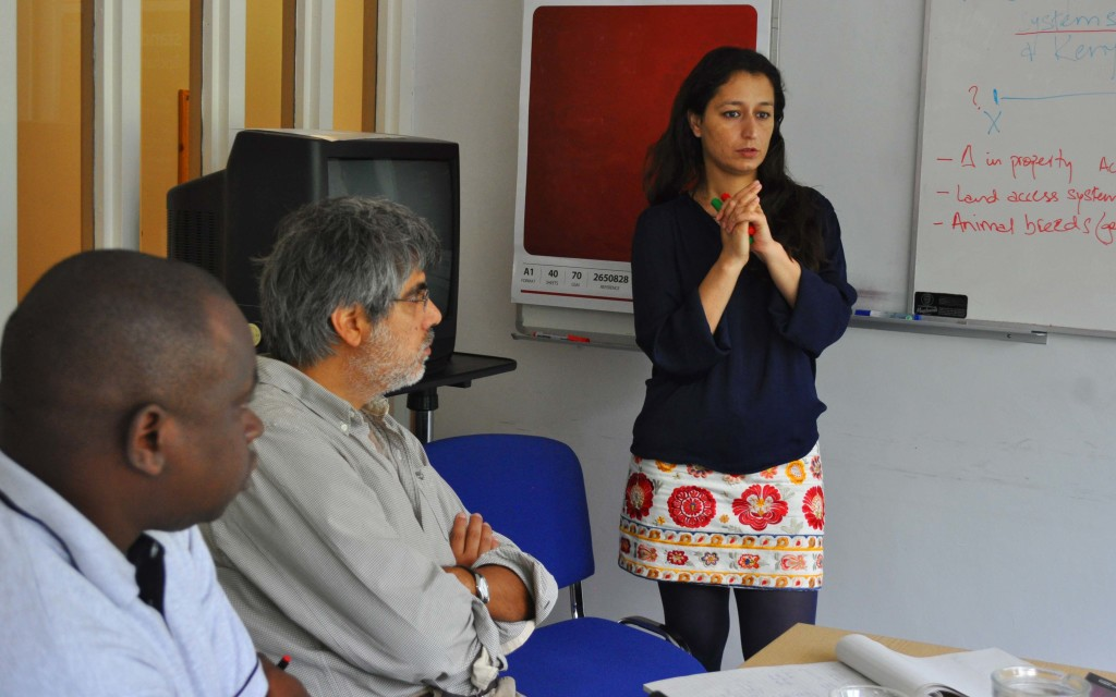 Shandana K. Mohmand in an ELLA Research Workshop in Brighton